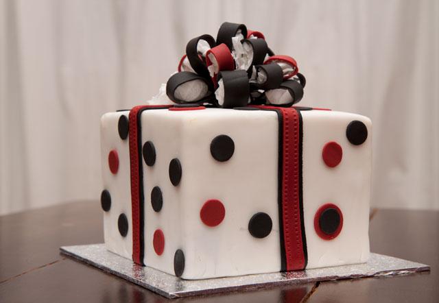 Flamenco birthday cake with polka dots - Minh Cakes Zurich