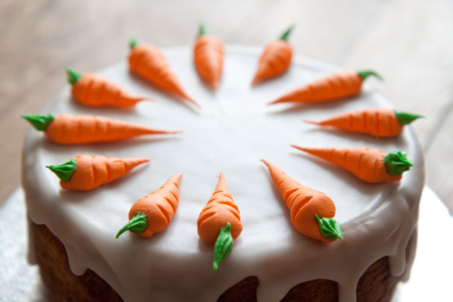 Carrot cake (Aargauer Rüeblitorte)