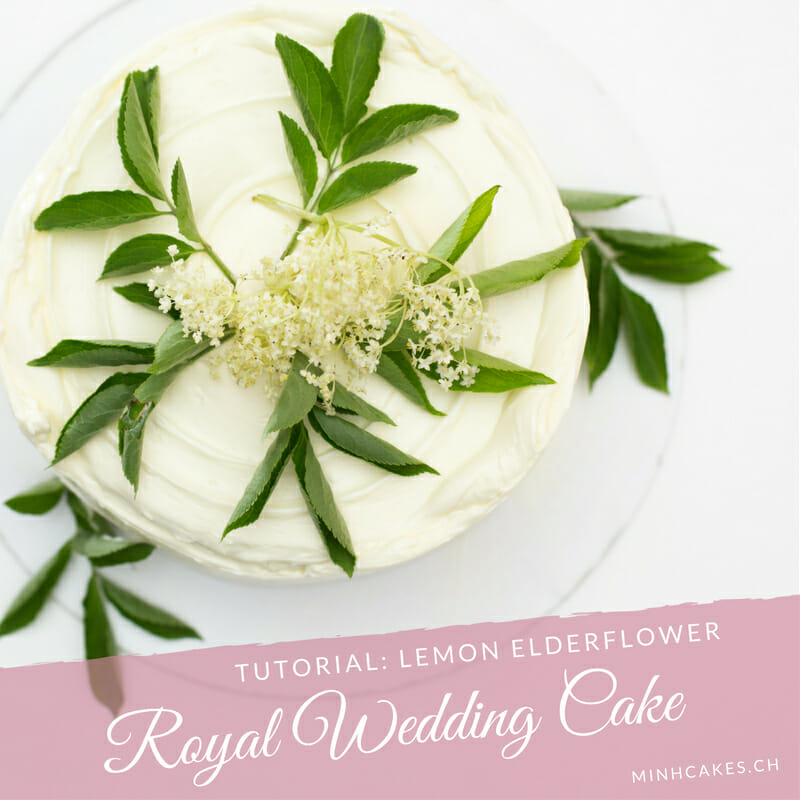 Royal Wedding Cake - Lemon with Elderflower cake - Minh Cakes version