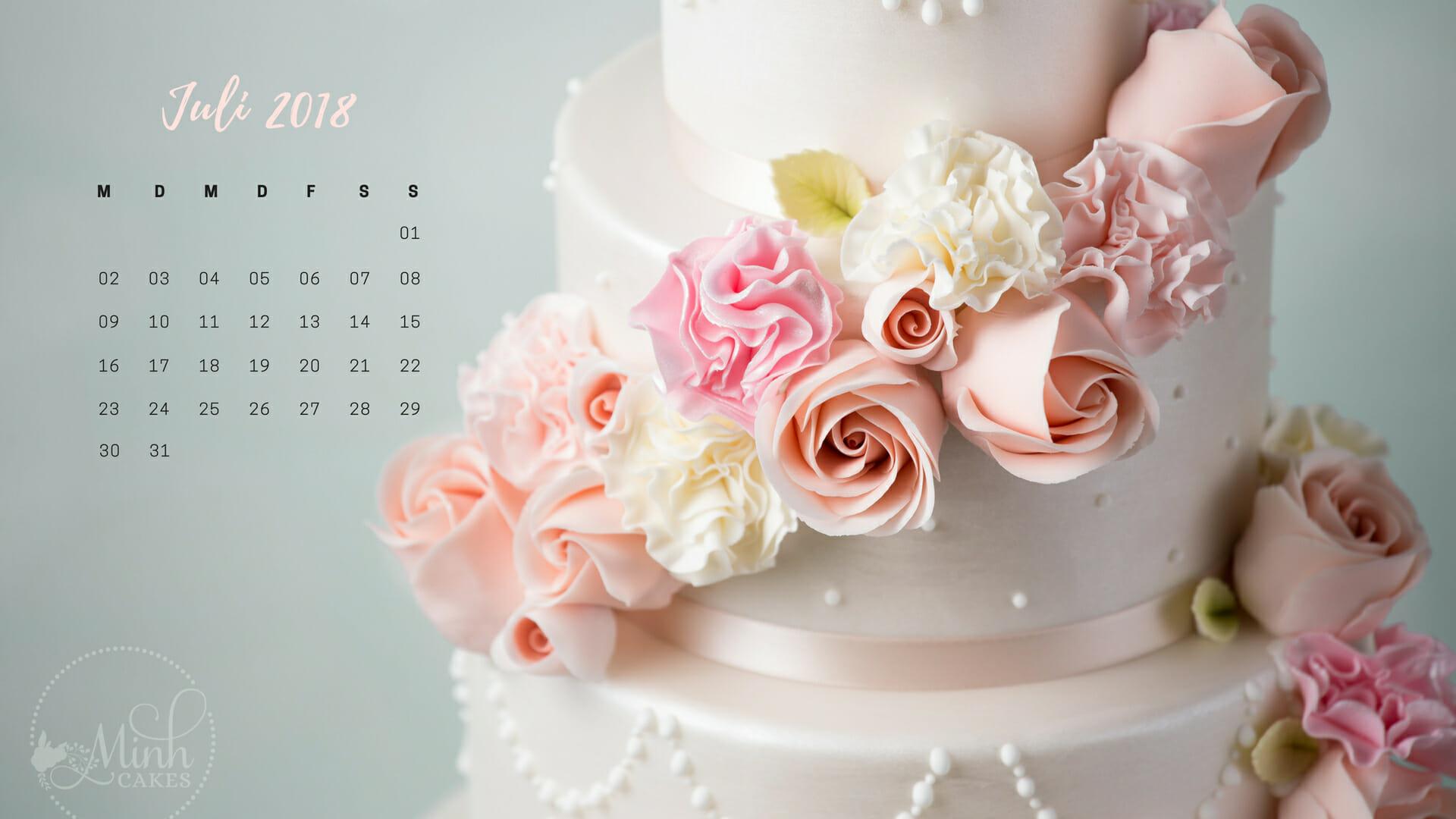 Geschenk: Bildschirmkalender für Juli 2018