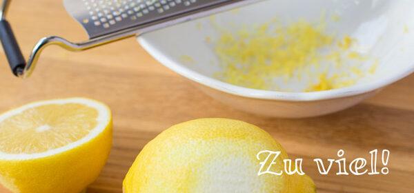 Tipp: Zitronenschale richtig reiben