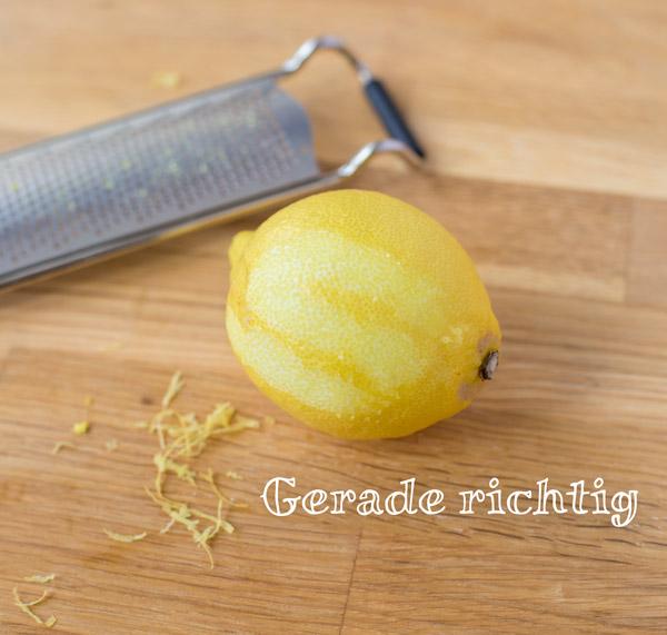 Bild Zitronenschale reiben: Genau richtig
