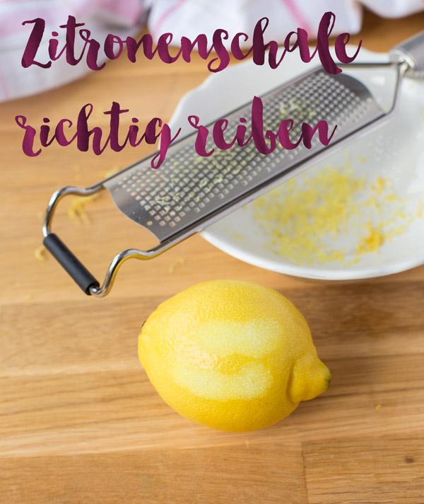 Wie man eine Zitrone richtig reibt: Zitrone mit Zitronengräte Microplane