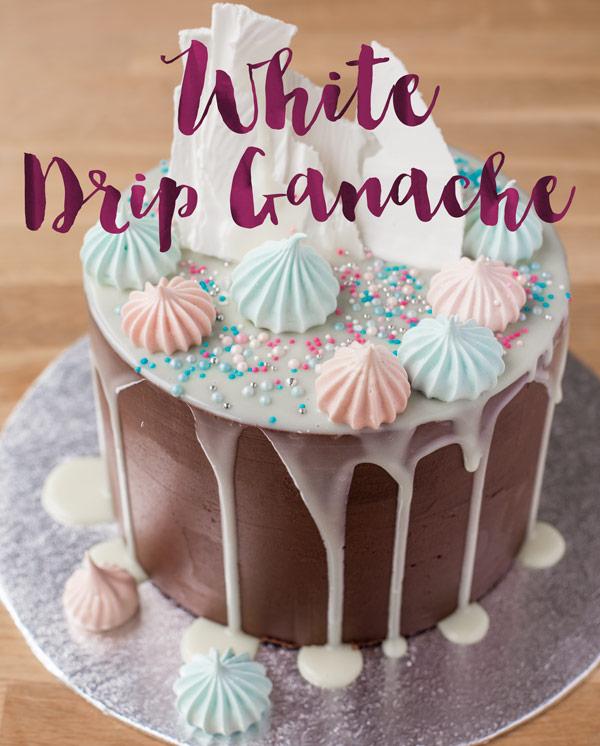 The Best White Drip Ganache Recipe Minh Cakes Blog