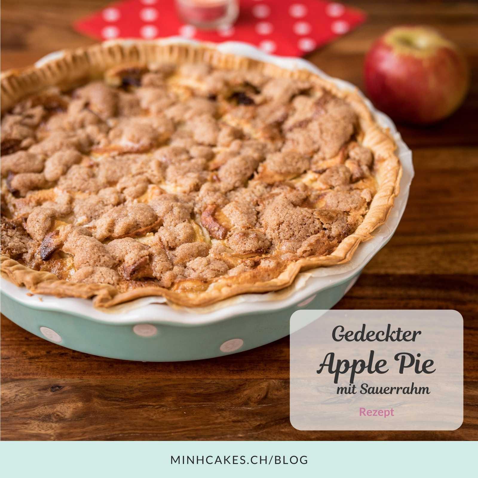 Gedeckter Apfelkuchen mit Sauerrahm – Rezept
