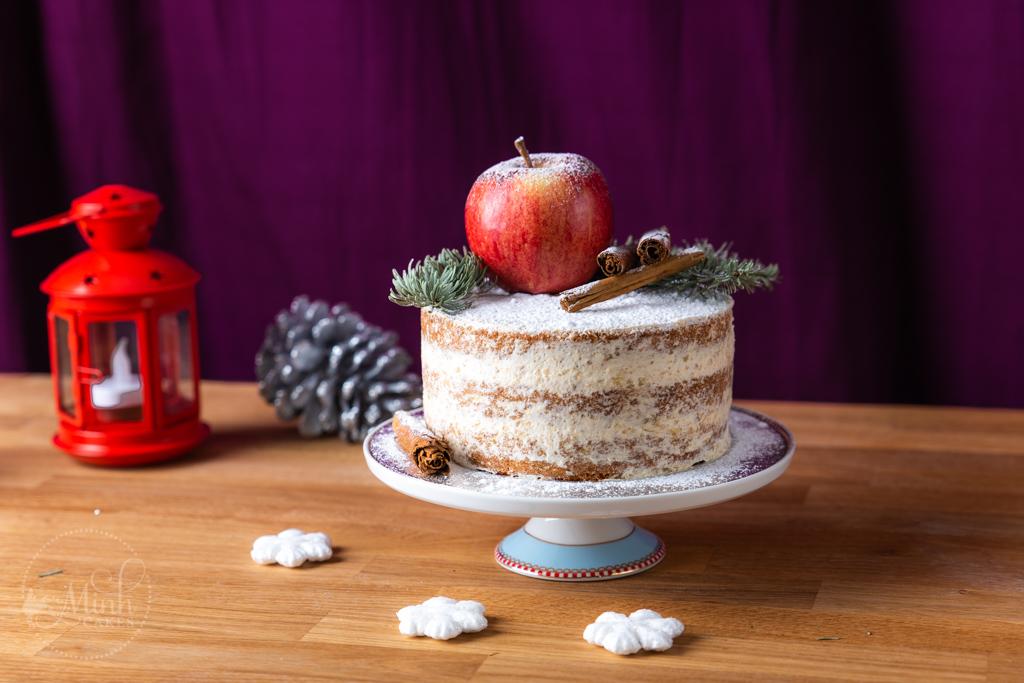 Rezept für Gewürz-Wunderkuchen mit Apfel-Zimt-Füllung