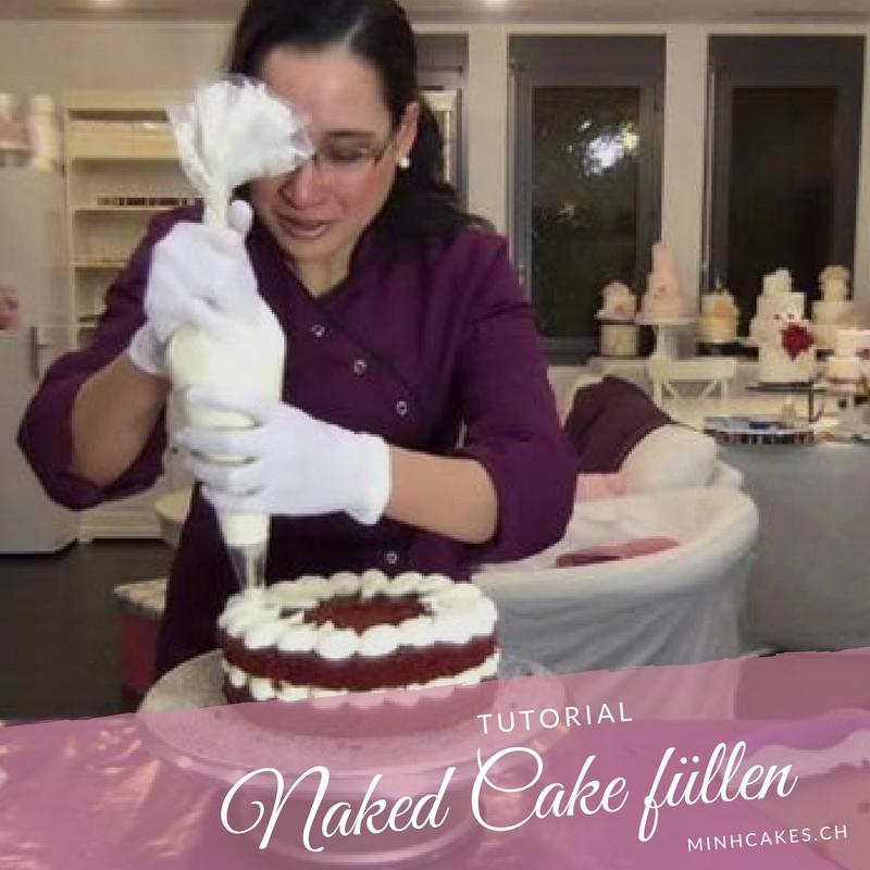 Anleitung zum Naked Cake füllen