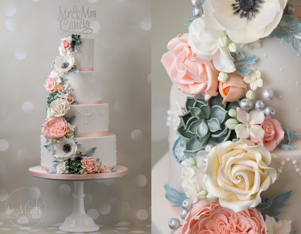 wedding cakes south west england minh cakes hochzeitstorte wedding cake blumenkaskade 25502