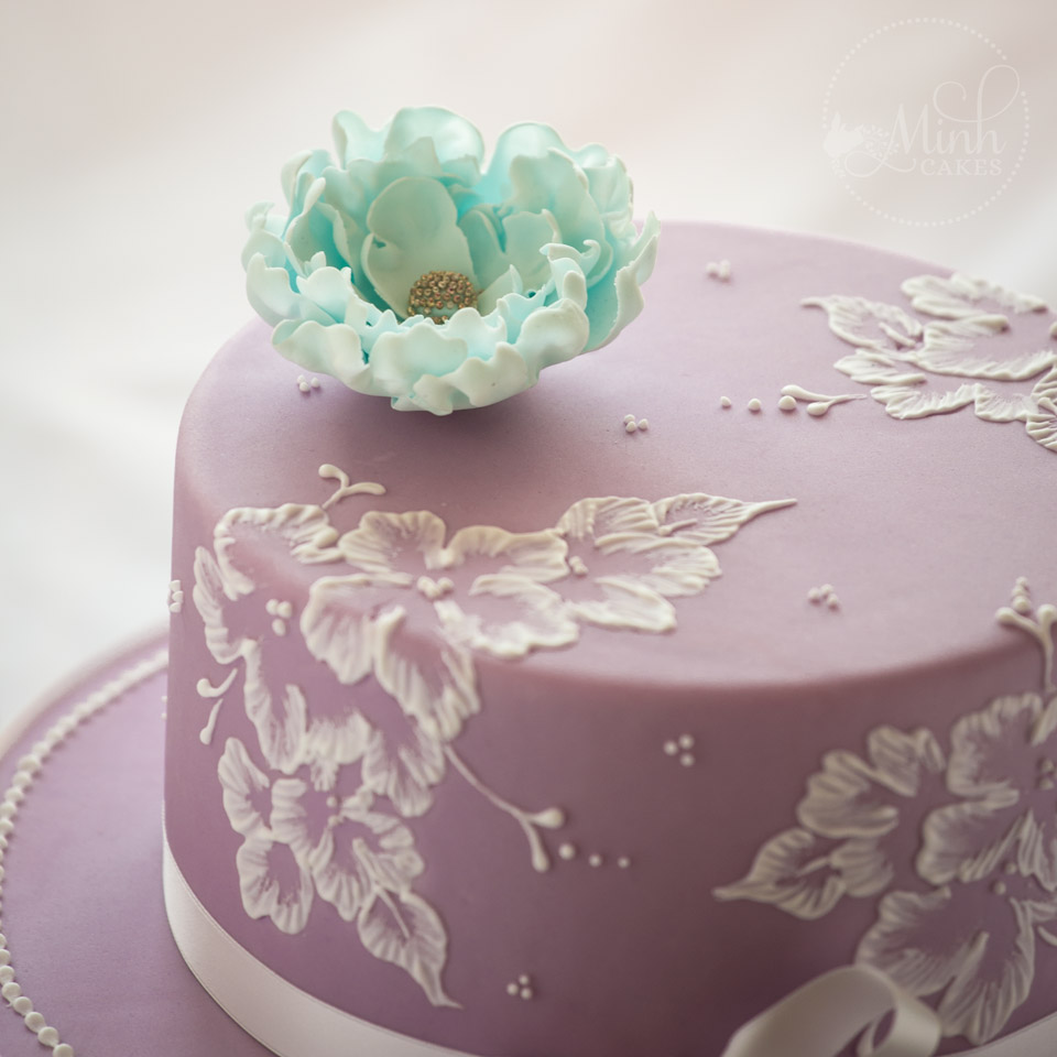 Royal Icing Drip Cake