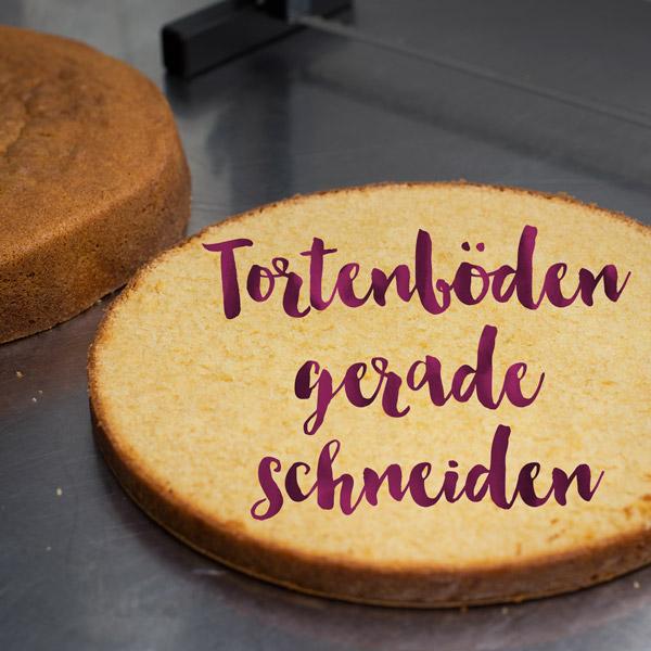 Tortenböden schneiden Minh Cakes