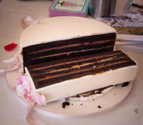 Minh Cakes Wie man eine Torte schneidet: Schritt 3