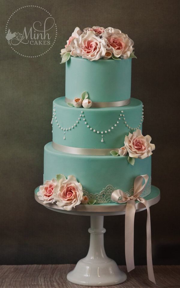 Aqua Green Wedding Cakes