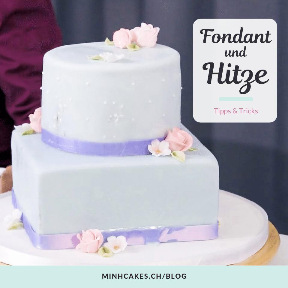 Minh Cakes Arbeiten bei grosser Hitze - Fondant schmilzt