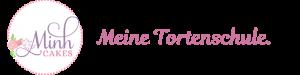 Minh Cakes Logo mit Slogan mittig rosa 800x200
