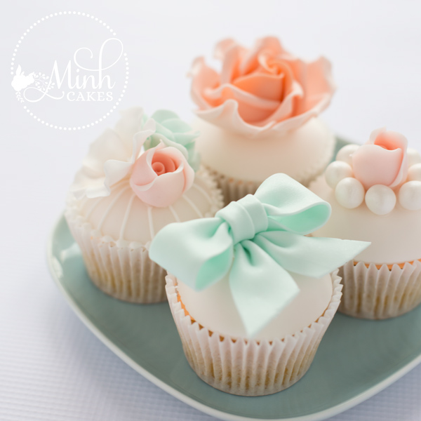vintage cupcakes on a plate