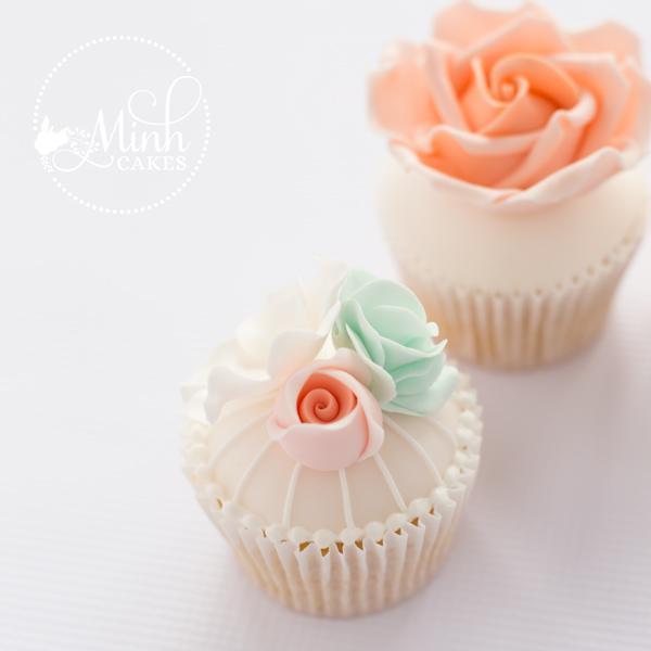 a cute vintage rose cupcake